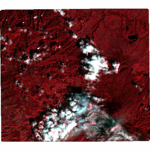 Base image after topographic correction